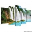 Set Tablou Canvas 5 piese Cascada Paradis 1 3D