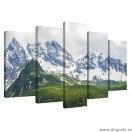 Set Tablou Canvas 5 piese Alpi