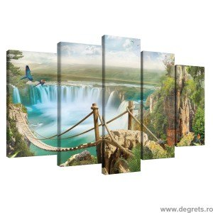 Set Tablou Canvas 5 piese Niagara