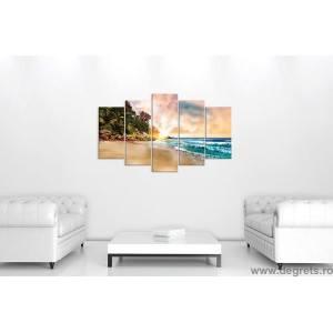 Set Tablou Canvas 5 piese Bahamas