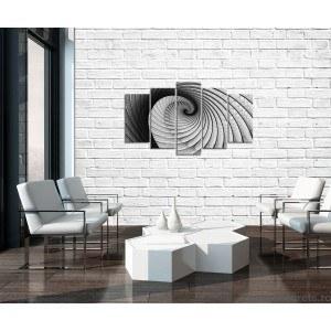 Set Tablou Canvas 5 piese Iluzie rotatie 3D