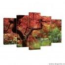 Set Tablou Canvas 5 piese Natura 4