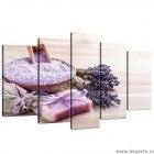 Set Tablou Canvas 5 piese Lavanda Relaxare