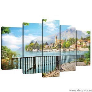 Set Tablou Canvas 5 piese Vedere Panoramica 2 3D