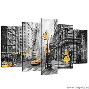 Set Tablou Canvas 5 piese Arta New York