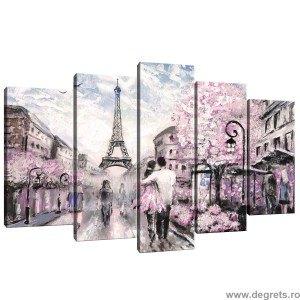 Set Tablou Canvas 5 piese Paris Arta 1