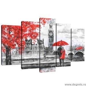 Set Tablou Canvas 5 piese Londra Arta