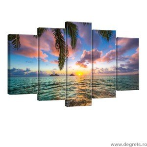 Set Tablou Canvas 5 piese Vedere la mare