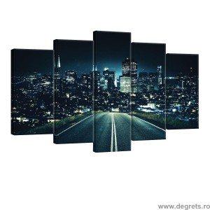 Set Tablou Canvas 5 piese Plimbare de noapte