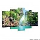 Set Tablou Canvas 5 piese Laguna 1 3D