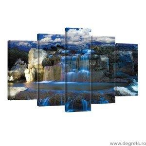 Set Tablou Canvas 5 piese Cascada