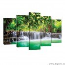 Set Tablou Canvas 5 piese Cascada in Tailanda