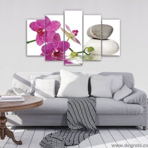 Set Tablou Canvas 5 piese Orhidee Eleganta 5