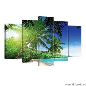 Set Tablou Canvas 5 piese Maldive 3