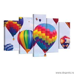 Set Tablou Canvas 5 piese Baloane colorate