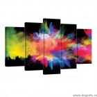 Set Tablou Canvas 5 piese Abstractie 8 3D