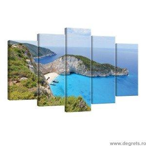 Set Tablou Canvas 5 piese Grecia