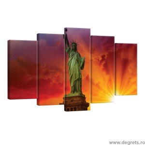 Set Tablou Canvas 5 piese Statuia Libertatii