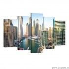 Set Tablou Canvas 5 piese Dubai Marina
