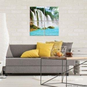 Set Tablou Canvas 4 piese Cascada Paradis 1 3D