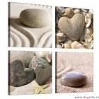 Set Tablou Canvas 4 piese Iubire de la mare