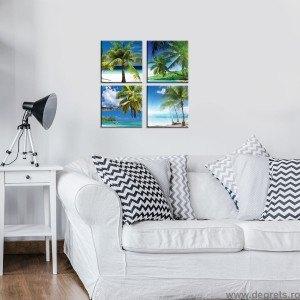 Set Tablou Canvas 4 piese Plaje exotice 1