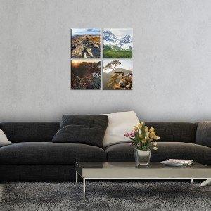 Set Tablou Canvas 4 piese Peisaje de munte 1