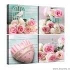 Set Tablou Canvas 4 piese Trandafiri iubire 1