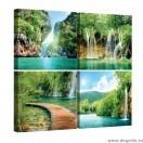 Set Tablou Canvas 4 piese Paradis cascada