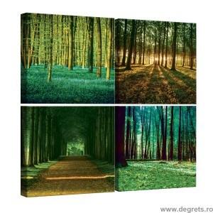 Set Tablou Canvas 4 piese Peisaje padure 2