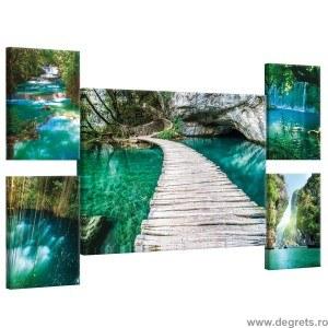 Set Tablou Canvas 5 piese Cascada magica