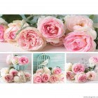 Set Tablou Canvas 4 piese Trandafiri rosii 2