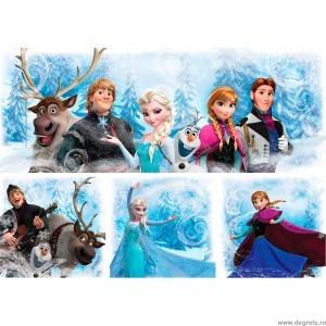 Set Tablou Canvas 4 piese Frozen 7
