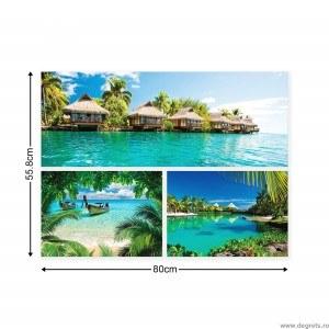 Set Tablou Canvas 3 piese Plaje exotice 3
