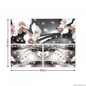 Set Tablou Canvas 3 piese Orhidee eleganta 6