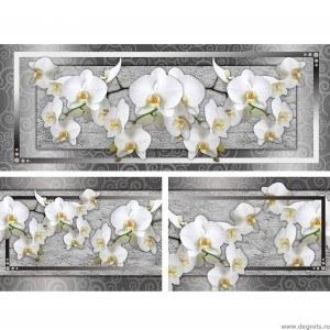 Set Tablou Canvas 3 piese Orhidee eleganta 7