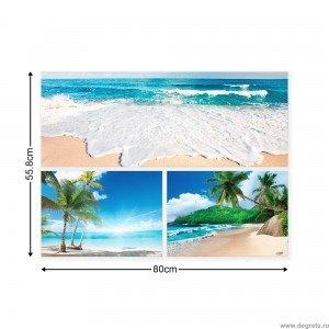Set Tablou Canvas 3 piese Plaje exotice 4