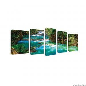 Set Tablou Canvas 5 piese Cascada 1