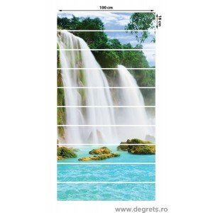 Sticker pentru scari Paradis daramat 3D 10x18x100 cm