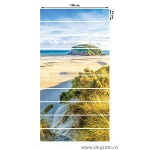 Sticker pentru scari Plaja Tropicala 10x18x100 cm