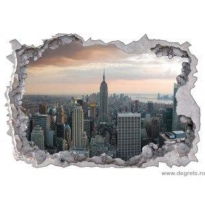 Sticker New York zgarie nori 3D 65x90cm
