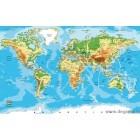Sticker Harta lumii 65x90cm