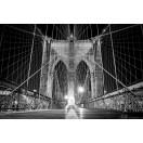 Fotografie tapet Podul Brooklyn alb negru 2