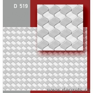 Panou plafon 50/50 numar 10-519 alb