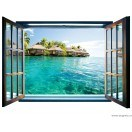 Fotografie tapet Caraibe 3D fereastra Vlies