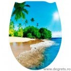 Capac WC universal Plaja 3D decor
