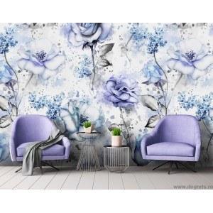 Fotografie tapet Trandafiri albastri 3D XL