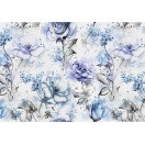 Fotografie tapet Trandafiri albastri 3D L