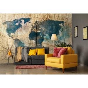 Fotografie tapet Harta lumii 5 3D XL