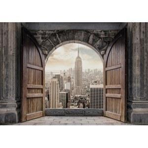 Fotografie tapet Intrare in New York 3D L